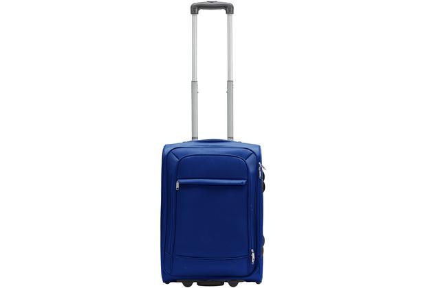 Packenger Lite Business Textilkoffer Größe M, Dunkelblau