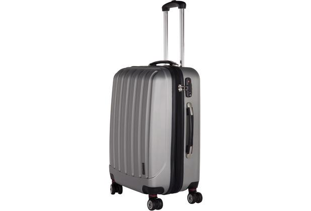 Packenger Premium Koffer Velvet L in Silber