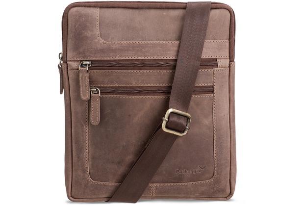 Packenger Thuras Tablet Tasche, Unisex in Dunkelbraun aus Echtleder