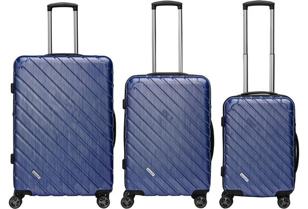 Packenger Vertical Business Koffer 3er-Set, Blau/ Blue