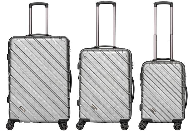 Packenger Vertical Business Koffer 3er-Set, Silber