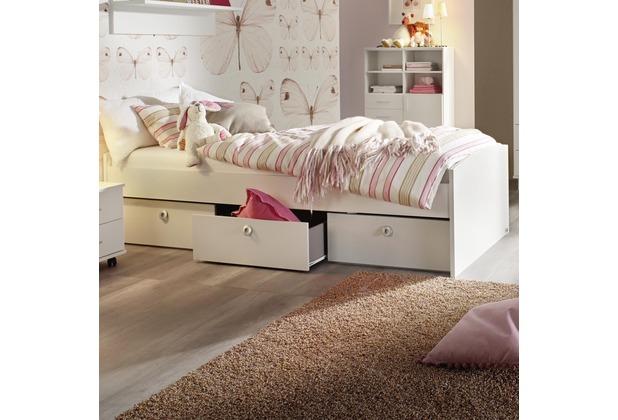 PACK\'S Bett Aik Alpinweiß 950x540x2060 cm
