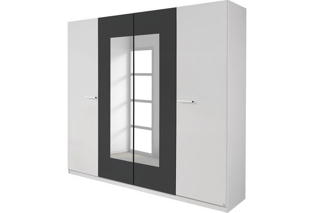 PACK\'S Drehtürenschrank Borba weiß/Graumetallic 1810x2100x540 cm