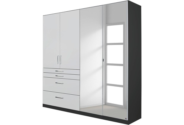 PACK\'S Drehtürenschrank Harburg Alpinweiß/grau 1360x1970x540 cm