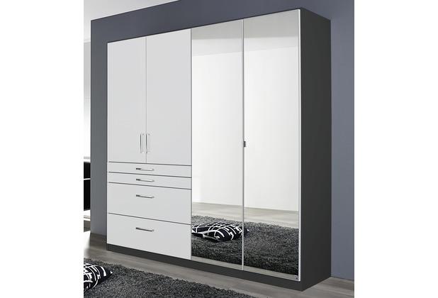 PACK\'S Drehtürenschrank Harburg Alpinweiß/grau 1810x1970x540 cm