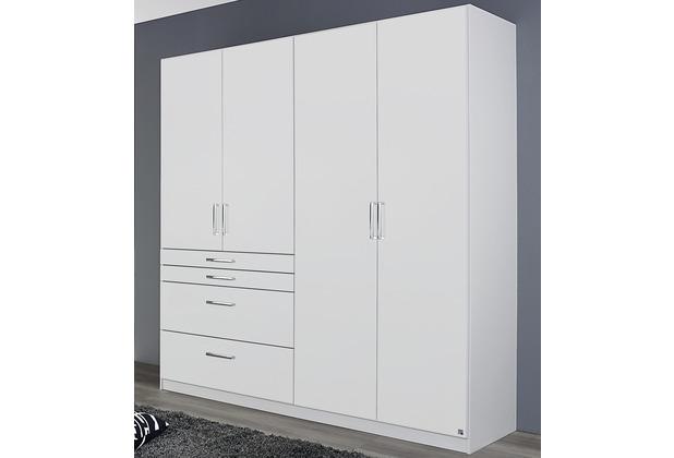 PACK\'S Drehtürenschrank Harburg Alpinweiß 181x197x54 cm