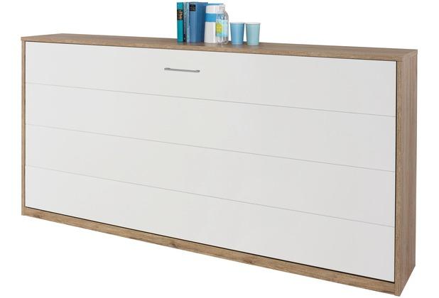 PACK\'S Querklappbett Albero Alpinweiß/eiche sanremo 2120x1050x360 cm