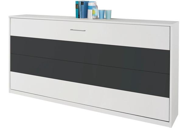 PACK\'S Querklappbett Albero weiß/Graumetallic 2120x1050x360 cm