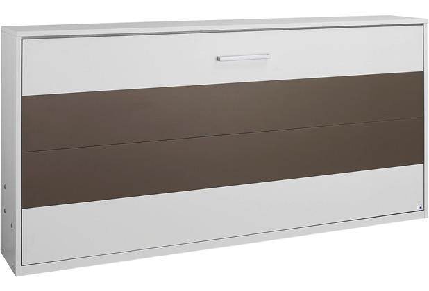PACK\'S Querklappbett Albero, mit Lattenrost Liegefläche 90/200, Weiß/Weiß/Lavagrau, A9P97.7500
