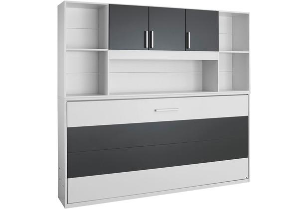 PACK\'S Querklappbett Albero weiß/Graumetallic 2120x1980x360 cm