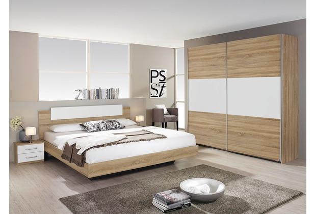 PACK\'S Schlafzimmer Borba eiche sonoma/Alpinweiß 160x200 cm