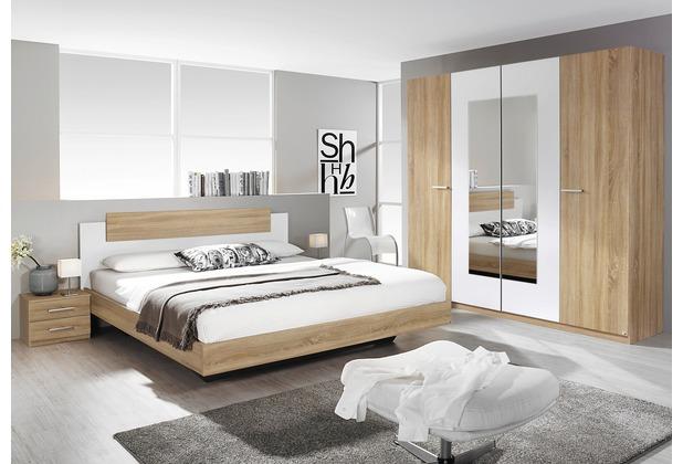PACK\'S Schlafzimmer Borba eiche sonoma/Alpinweiß 180x200 cm