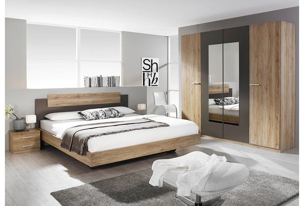 PACK\'S Schlafzimmer Borba eiche sanremo/Lavagrau 160x200 cm