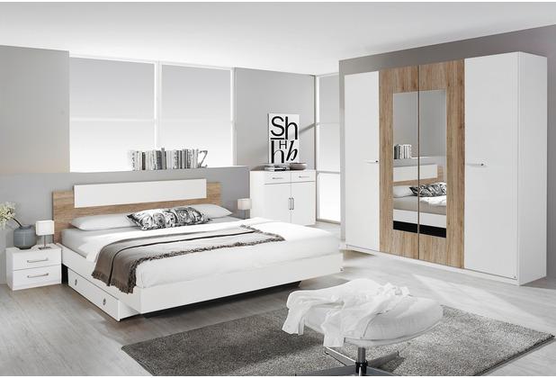 PACK\'S Schlafzimmer Borba weiß/eiche sanremo 180x200 cm