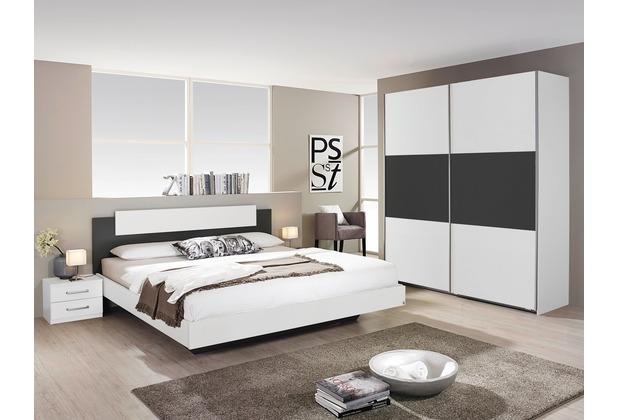 PACK\'S Schlafzimmer Borba weiß/Graumetallic 160x200 cm