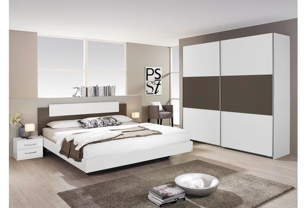 PACK\'S Schlafzimmer Borba weiß/Lavagrau 180x200 cm
