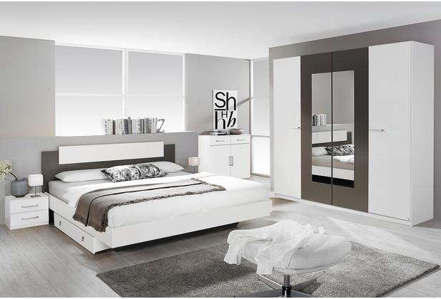 PACK\'S Schlafzimmer Borba weiß/Lavagrau 160x200 cm