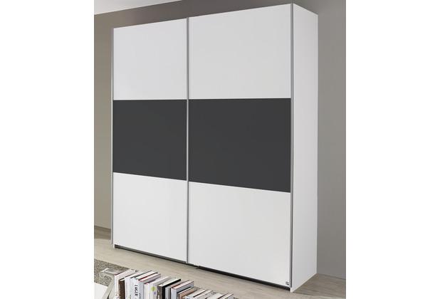 PACK\'S Schwebetürenschrank Borba weiß/Graumetallic 175x210x59 cm