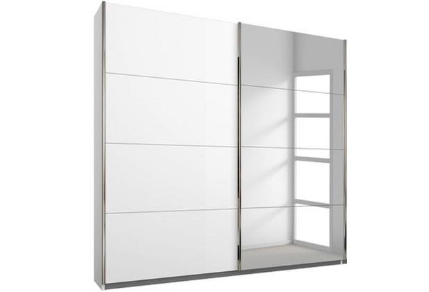 PACK\'S Schwebetürenschrank Friedberg weiß/alu 1810x2100x620 cm