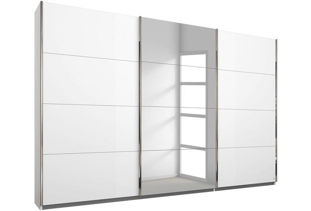 PACK\'S Schwebetürenschrank Friedberg weiß/alu 271x210x62 cm