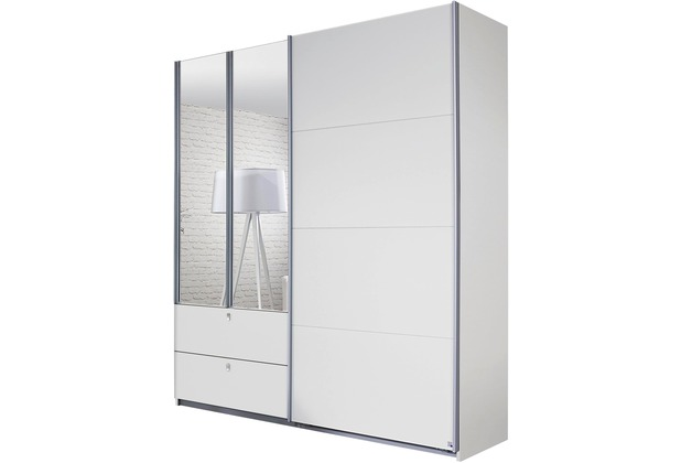 PACK\'S Schwebetürenschrank Kombino Alpinweiß 2260x2100x620 cm