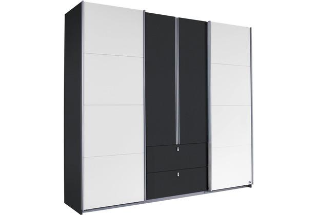 PACK\'S Schwebetürenschrank Kombino Alpinweiß/Graumetallic 226x210x62 cm