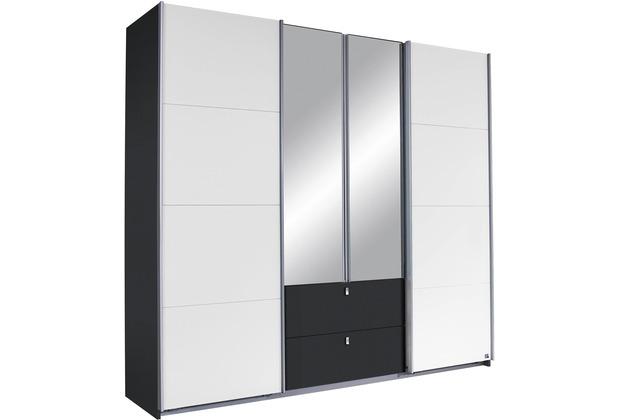 PACK\'S Schwebetürenschrank Kombino Alpinweiß/Graumetallic 2260x2100x620 cm