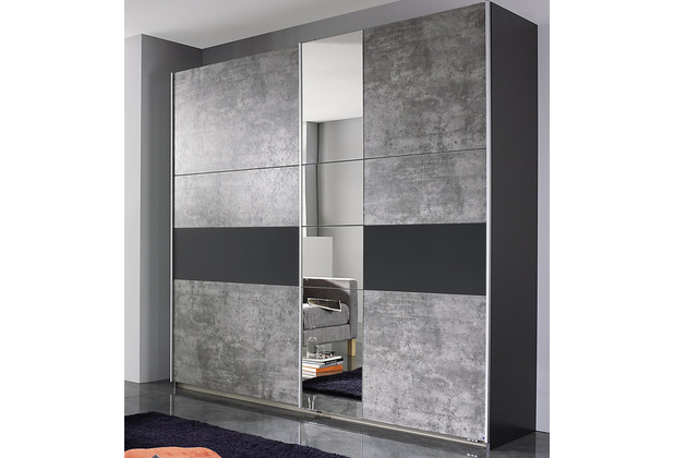 PACK\'S Schwebetürenschrank Korbach Stonegrey/Graumetallic 218x210x59 cm