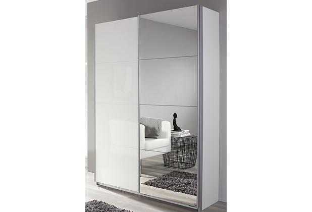 PACK\'S Schwebetürenschrank Minosa weiß/alu 136x197x48 cm
