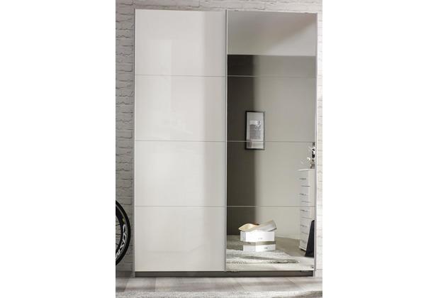 PACK\'S Schwebetürenschrank Minosa weiß/alu 1360x1970x610 cm