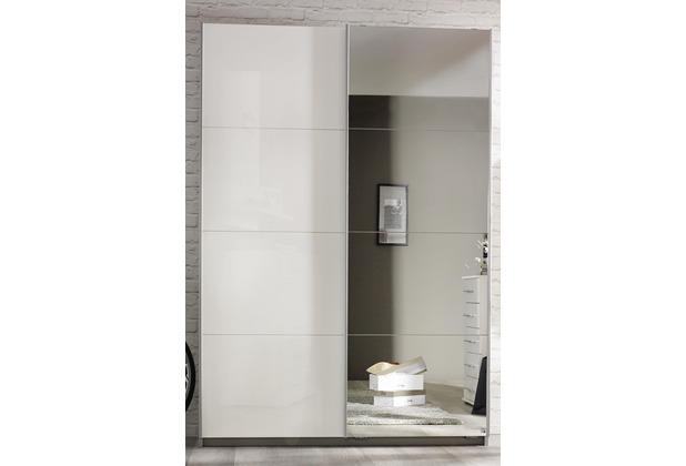 PACK\'S Schwebetürenschrank Minosa weiß/alu 1810x1970x480 cm