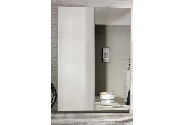 PACK\'S Schwebetürenschrank Minosa weiß/alu 181x197x48 cm