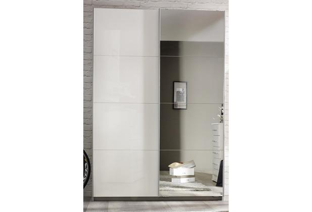 PACK\'S Schwebetürenschrank Minosa weiß/Alpinweiß 181x197x48 cm