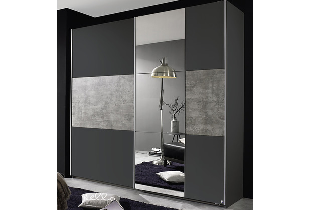 PACK\'S Schwebetürenschrank Prenzlau grau/Stonegrey 2180x2100x590 cm
