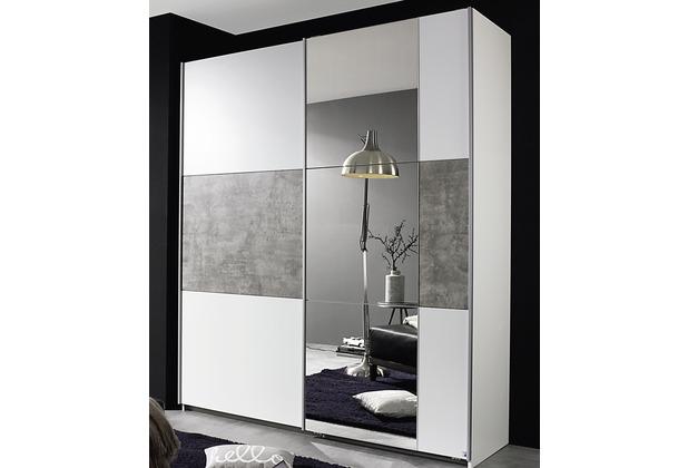 PACK\'S Schwebetürenschrank Prenzlau weiß/Stonegrey 1750x2100x590 cm