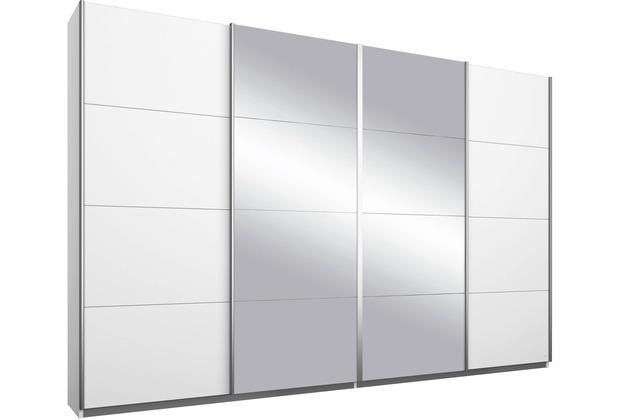 PACK\'S Synchron-Schwebetürenschrank Syncrono Alpinweiß, 4-türig mit 2 Spiegeltüren, AP9400A2F