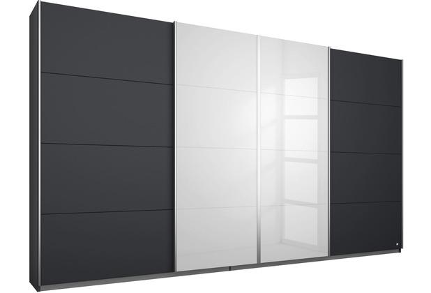 PACK\'S Synchron-Schwebetürenschrank Syncrono grau/alu 316x211x62 cm
