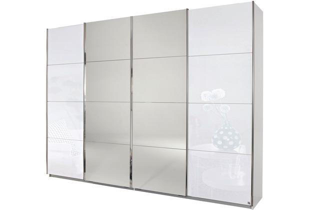 PACK\'S Synchron-Schwebetürenschrank Syncrono weiß/alu 316x211x62 cm
