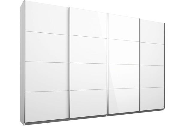 PACK\'S Synchron-Schwebetürenschrank Syncrono alu/Alpinweiß 316x211x62 cm