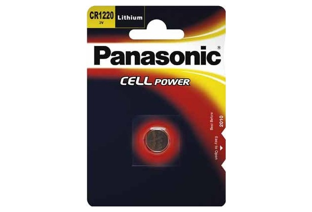 Panasonic CR1220 Lithium, Blister, 3v