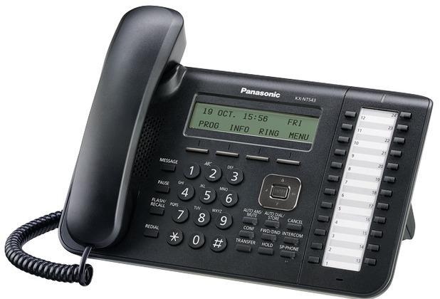 Panasonic IP Systemendgerät KX-NT543NE-B schwarz