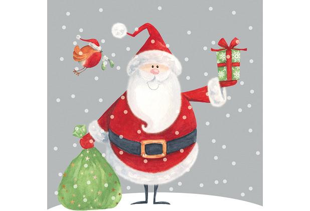 Paper+Design Servietten Tissue 33 x 33 cm Santa with Oskar 20er Pack
