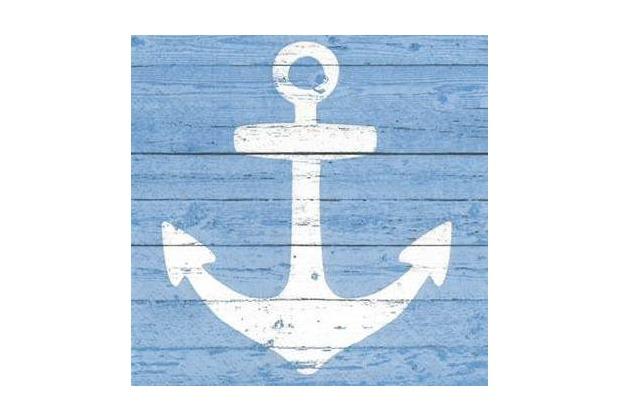Paper+Design Servietten Tissue Anchor sign blue 25 x 25 cm 20er