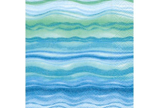 Paper+Design Servietten Tissue Blue waves 25 x 25 cm 20er