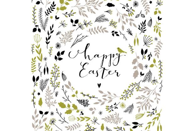 Paper+Design Servietten Tissue Happy Easter green 33 x 33 cm 20 Stück