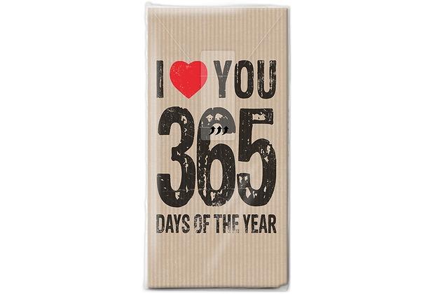 Paper+Design Taschentücher Tissue 365 days 21,5 x 22 cm 10er