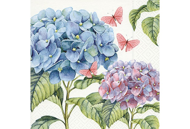 Paper+Design Tissue Servietten Gentle hydrangea 33 x 33 cm 20 Stück