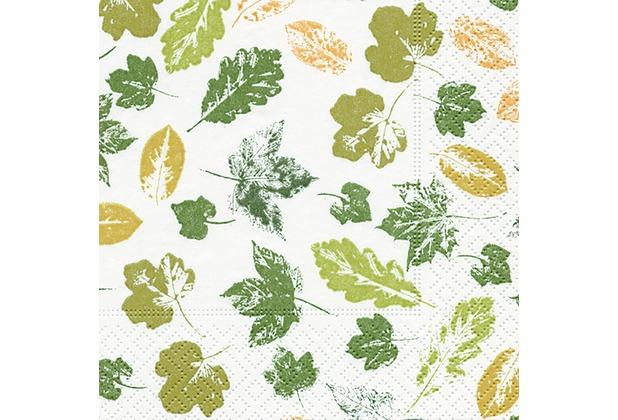 Paper+Design Tissue Servietten Stamped leaves 25 x 25 cm 20 Stück