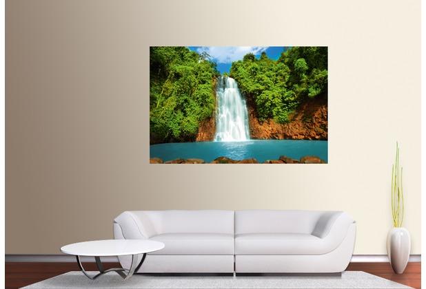 "papermoon XXL Poster / Fototapete \""mini\"", 1 Teil, Blue back, Waterfal 115 x 160 cm"