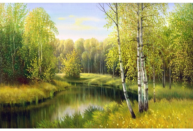papermoon Fototapete River in Autumn Day 7 Bahnen 350 x 260 cm Vlies
